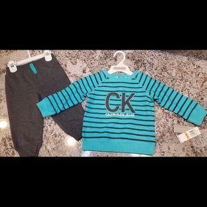 Kids 12 month Calvin Klein 2 piece set